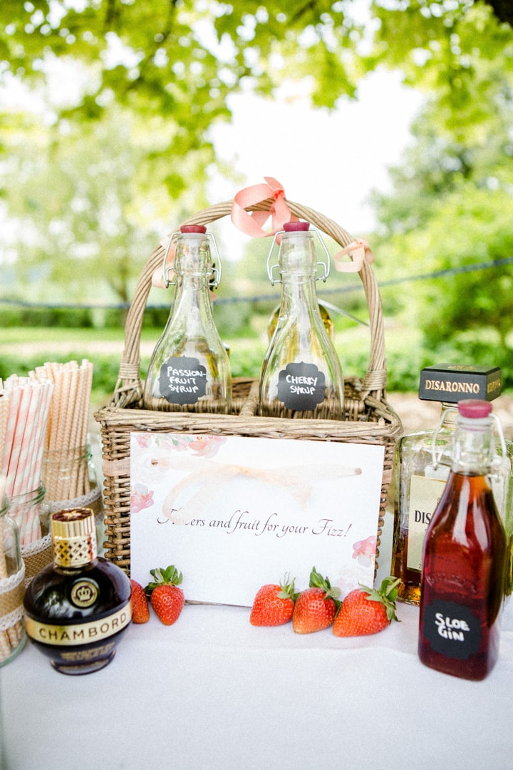 cute wedding champagne stand photograph