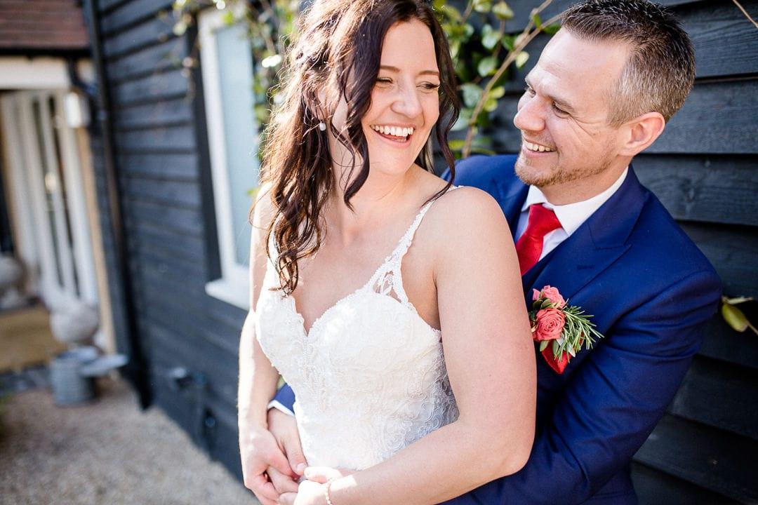 bride and groom at millbridge court