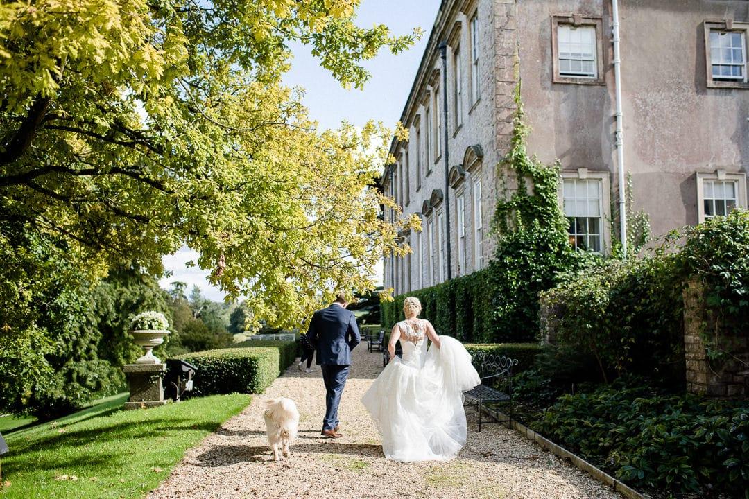 Bride and groom ston easton park hotel Bath