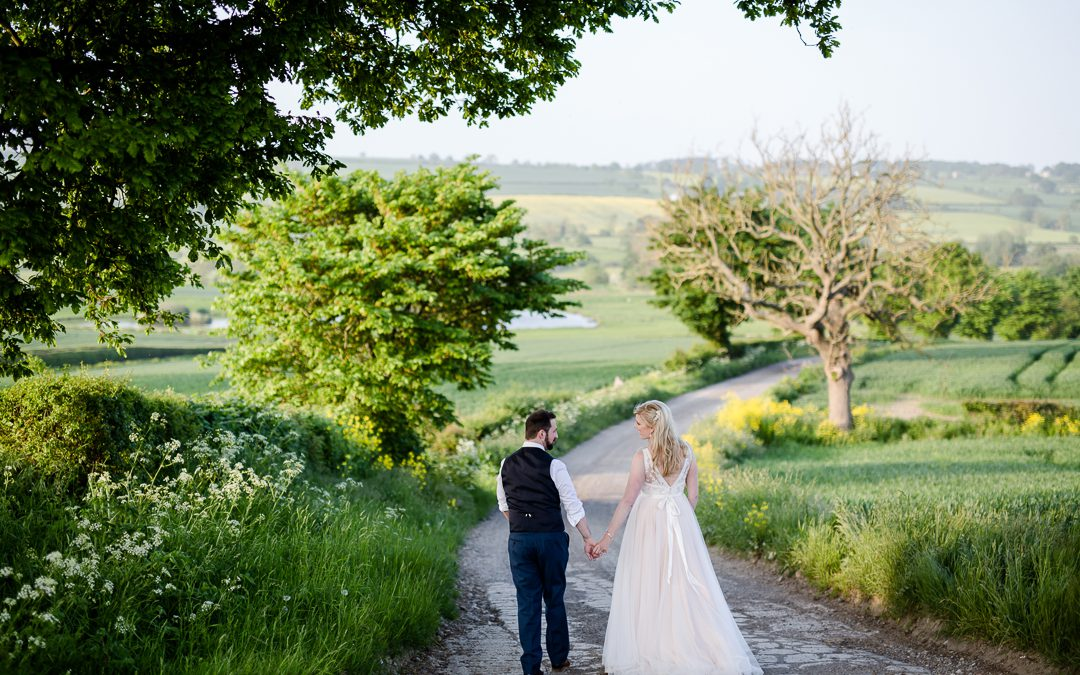 A Foodie Yorkshire Barn Wedding for a Bride in Blush