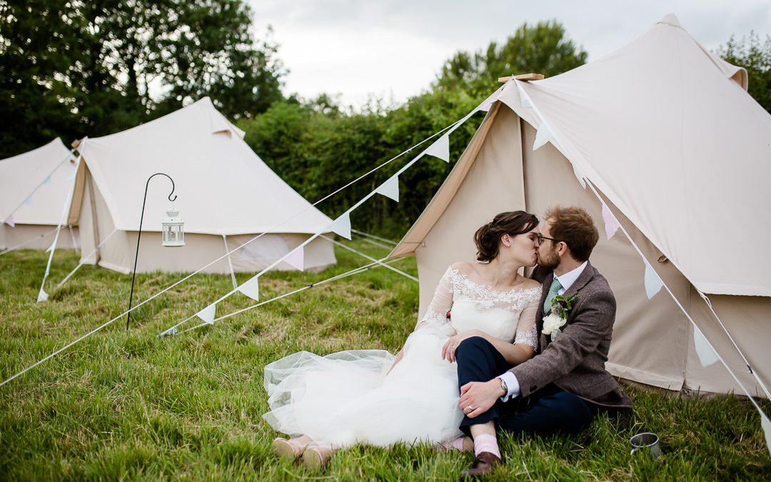 A Heartfelt Glamping Wedding at Bowerchalke Barn