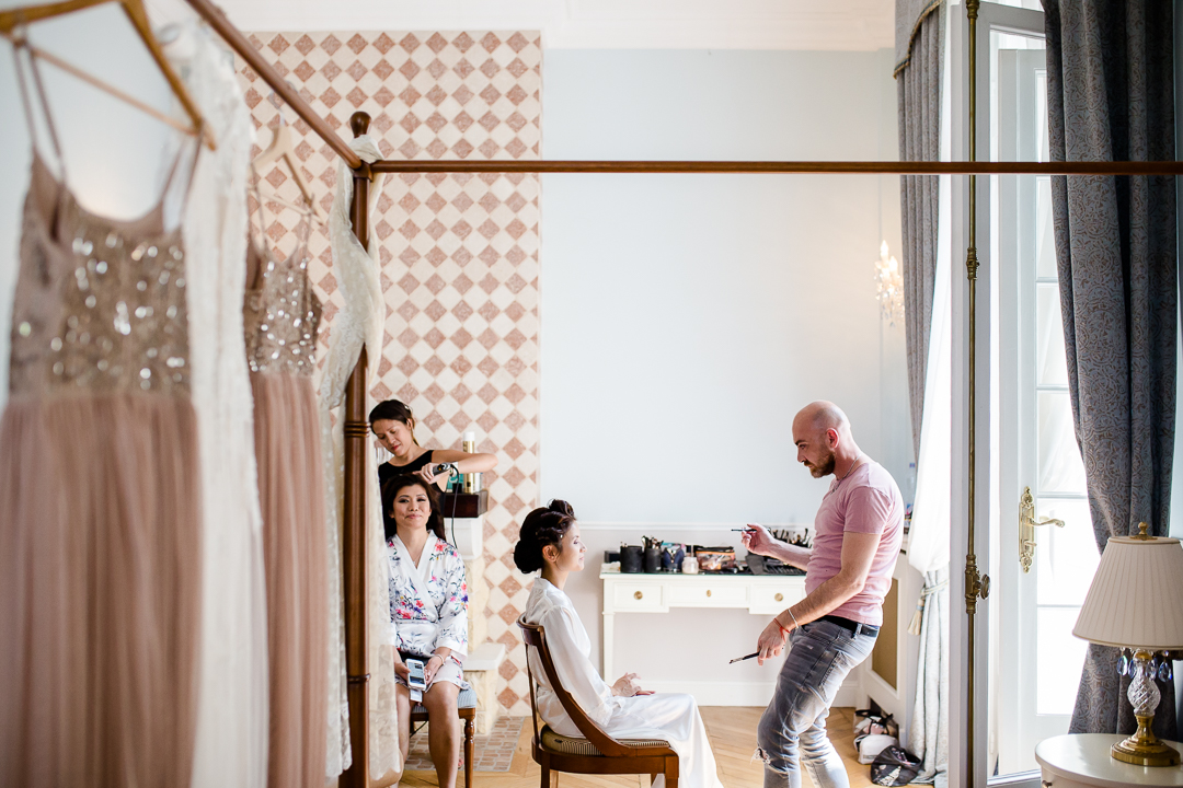bridal preparations in Chateau Bouffemont Paris France image
