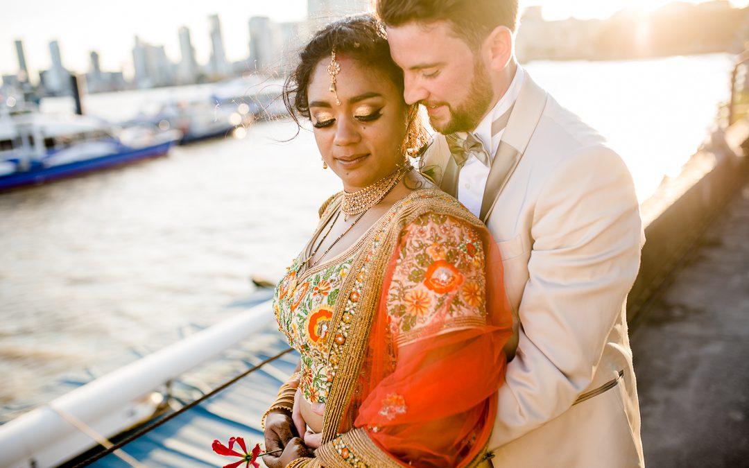 A Vibrant Hindu Wedding at Trinity Bouy Wharf