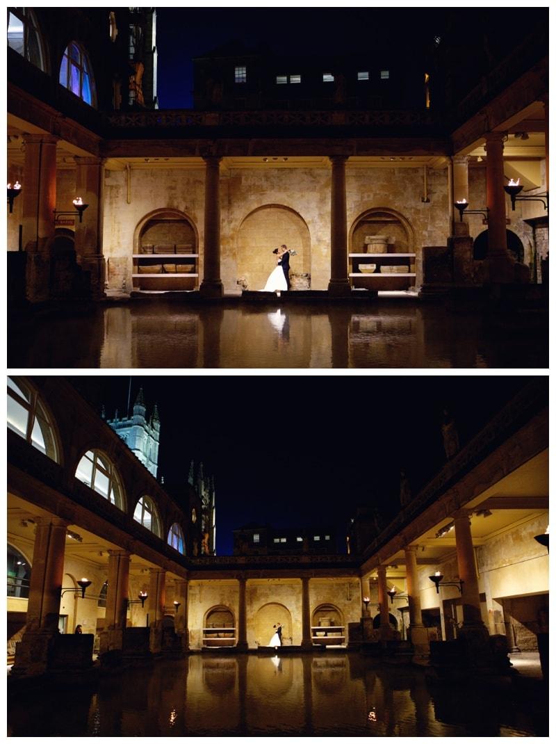 An exquisite, elegant Bath Abbey & The Roman Baths Wedding {Jane & David}