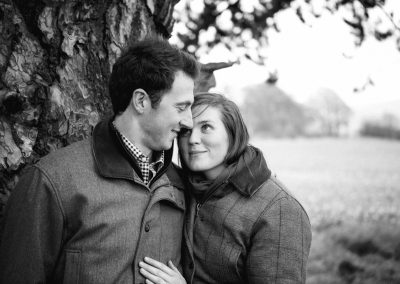 countryside tweed engagement photoshoot