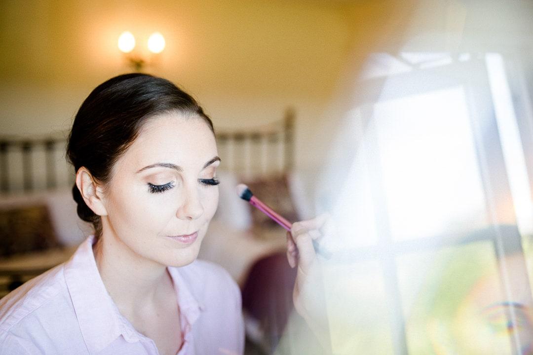 Bridal prep, bridal make up