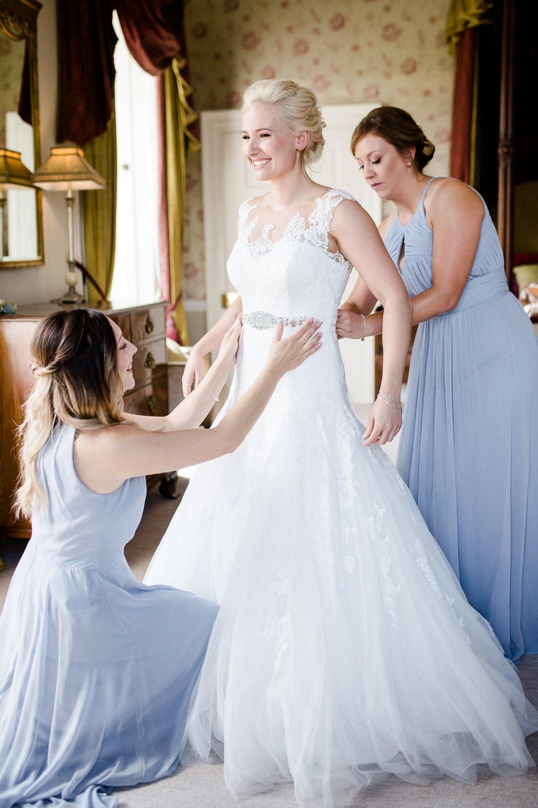 Bridal prep, Ston Easton Park Wedding