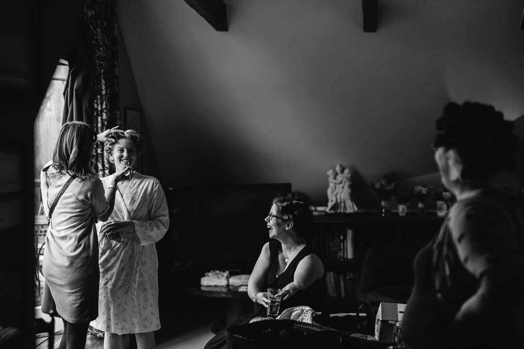 bridal preparations at The Anchor Inn Lower Froyle