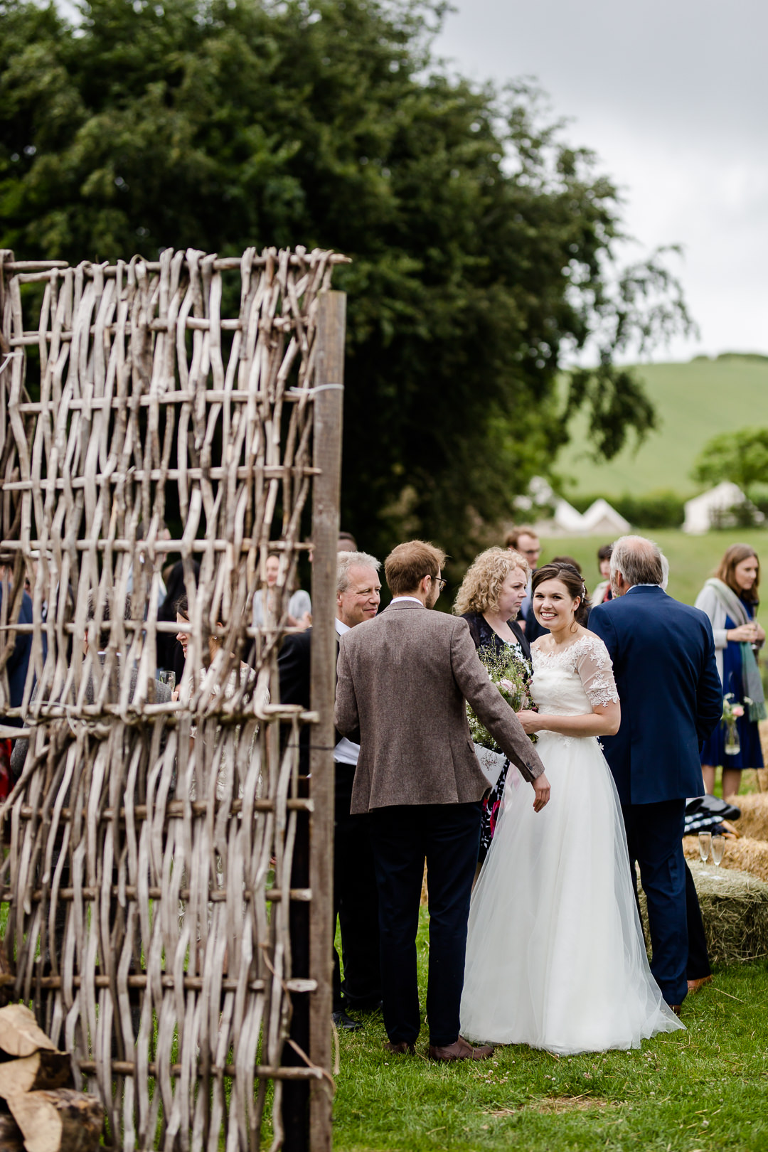 wedding reception at bowerchalke barn