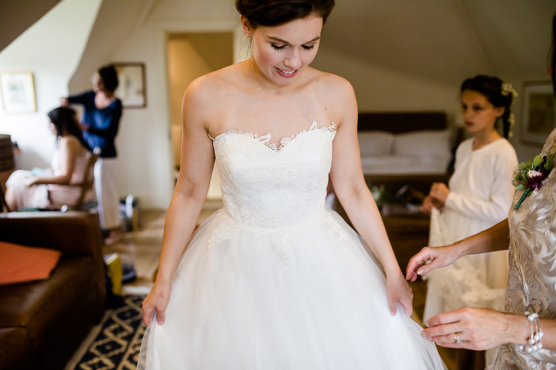 bride during bridal preparations photo by Lydia Stamps Photography
