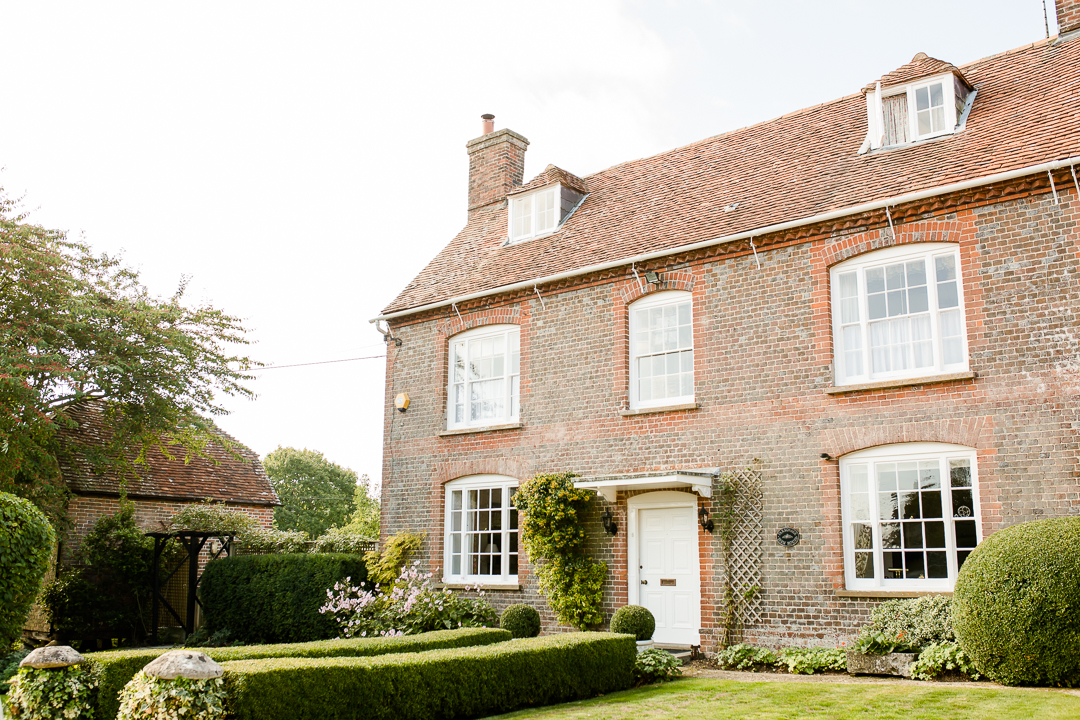 exterior of brick country house in wiltshire