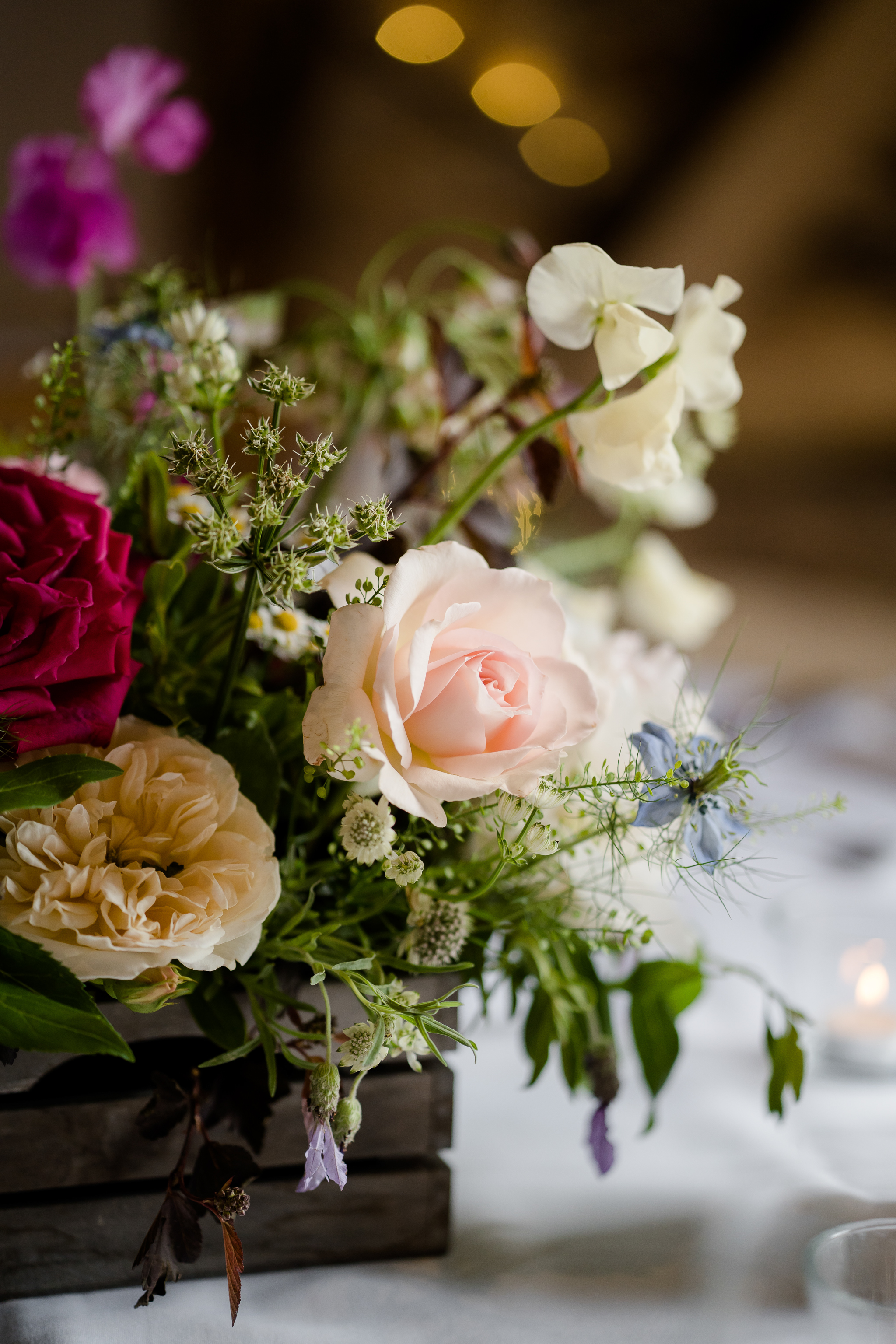 rustic wedding flowers by The White Horse Flower Company Newbury