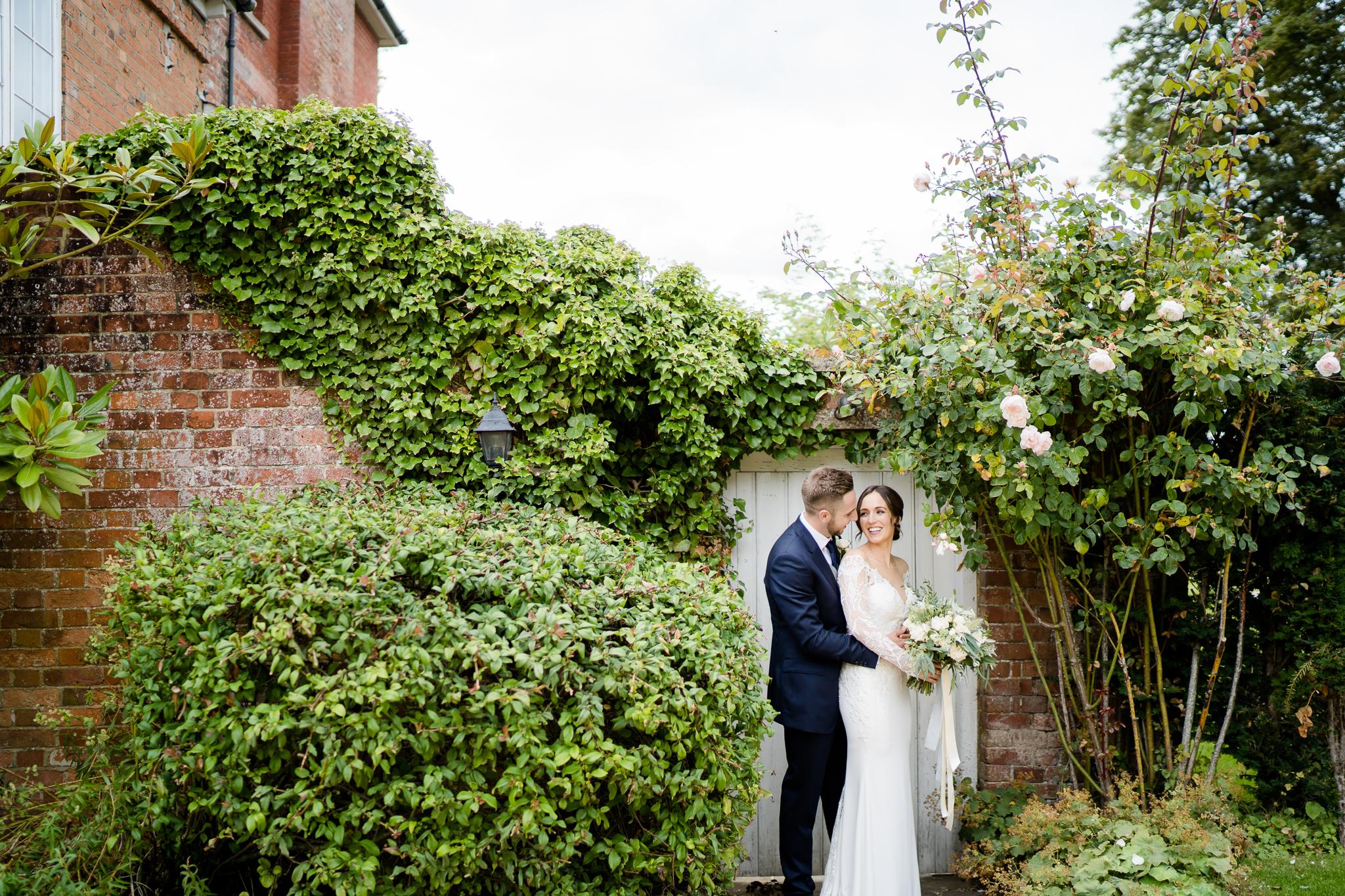 wedding photos of bride and groom at Syrencot wedding venue Wiltshire