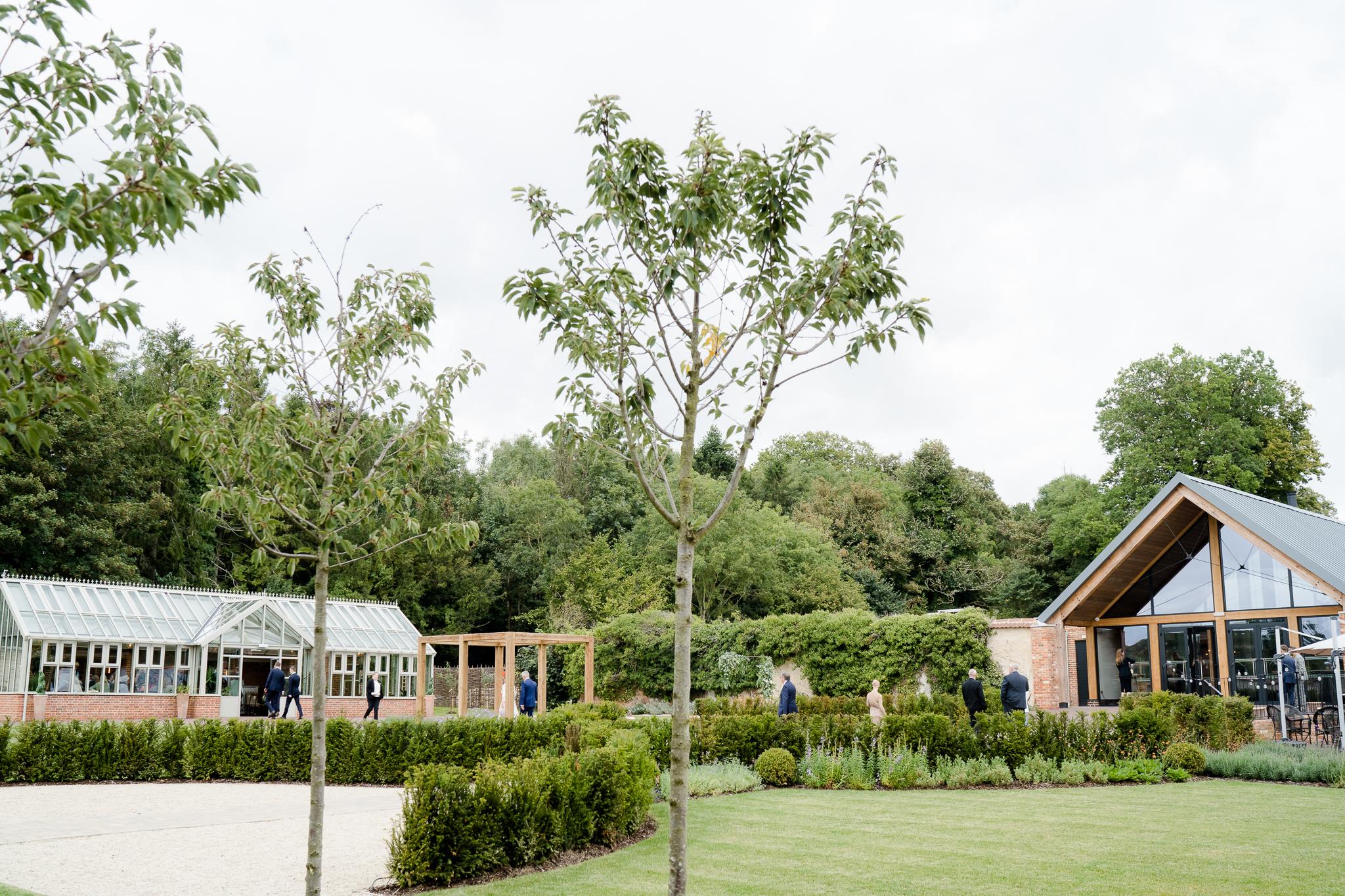 Gardens at Syrencot House wedding venue Wiltshire