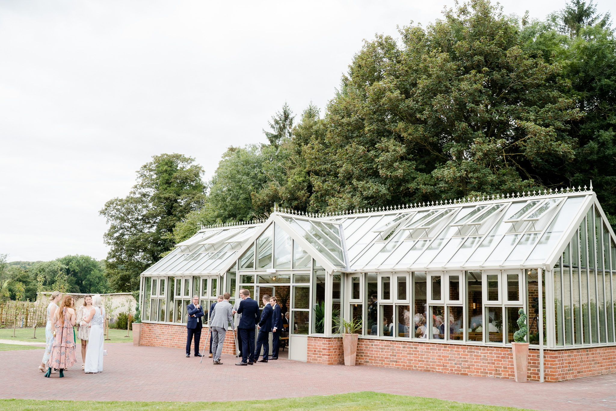 the glasshouse ceremony area at Syrencot Wiltshire