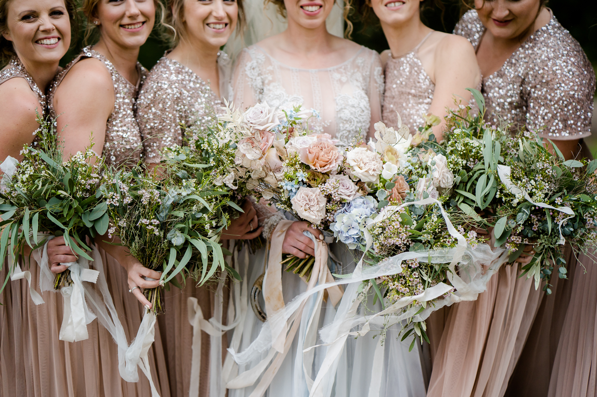wild rustic wedding bouquets by Jenni Bloom Flowers