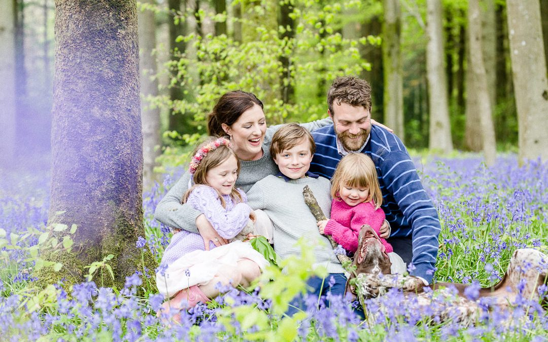 Relaxed Family Shoot in the Bluebells
