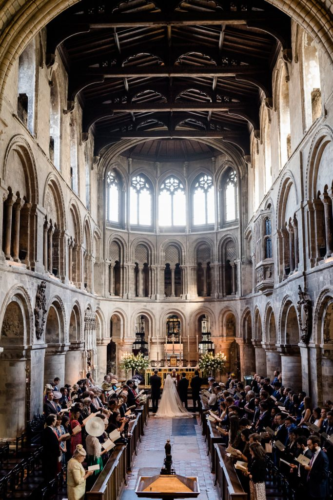 interior of St.Bartholomew's Church the oldest church in London featured in Four Weddings and a Funeral