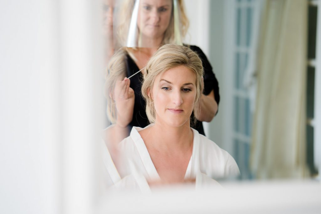 wedding hair by Sloanes of Salisbury photo by Lydia Stamps Photography