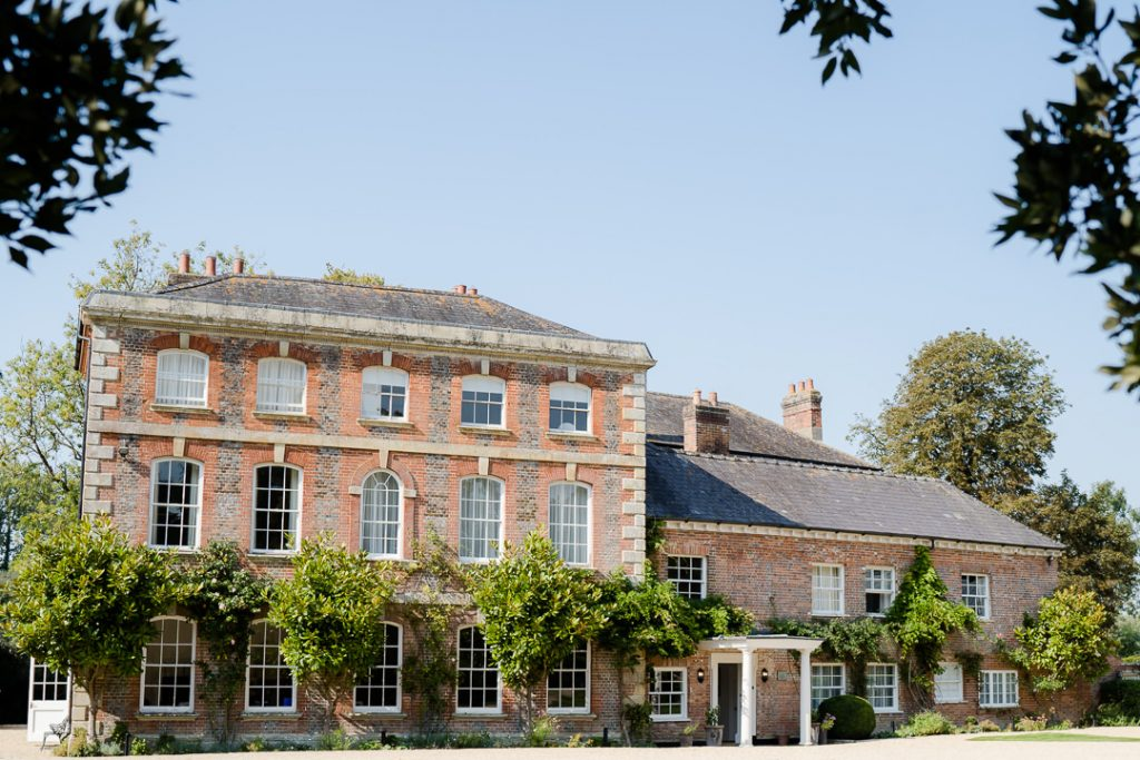 Photo of the exterior of Syrencot wedding venue in Wiltshire near Salisbury. Photo by Lydia Stamps Photography