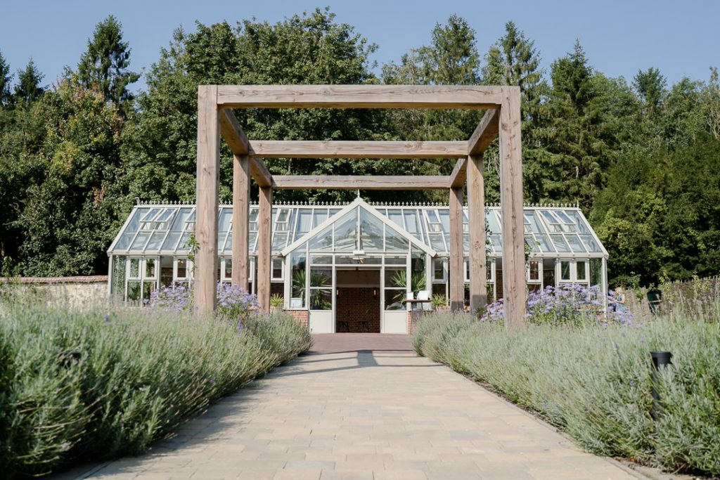 The glass house at Syrencot Photo by Lydia Stamps Photography