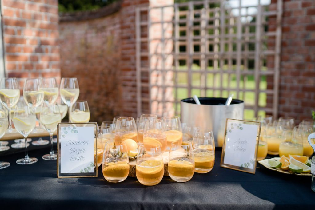 drinks display at Syrencot Photo by Lydia Stamps Photography